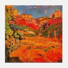 Joaquin Mir Red Valley Tile Coaster