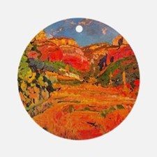 Joaquin Mir Red Valley Round Ornament