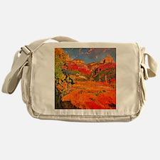 Joaquin Mir Red Valley Messenger Bag