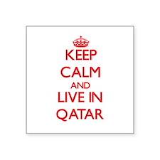 Keep Calm and live in Qatar Sticker