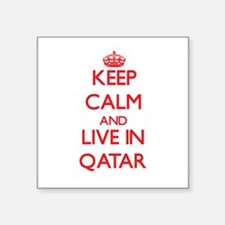 Keep Calm and live in Qatar Sticker