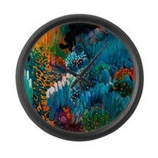 Joaquin Mir Abstract Large Wall Clock