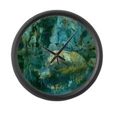 Joaquin Mir The Rock in the Pond Large Wall Clock