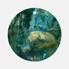 Joaquin Mir The Rock in the Pond Round Ornament