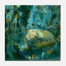 Joaquin Mir The Rock in the Pond Tile Coaster