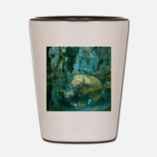 Joaquin Mir The Rock in the Pond Shot Glass