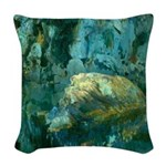Joaquin Mir The Rock in the Pond Woven Throw Pillo