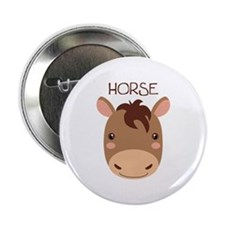 "HORSE 2.25"" Button (10 pack)"