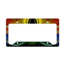 abstract love License Plate Holder