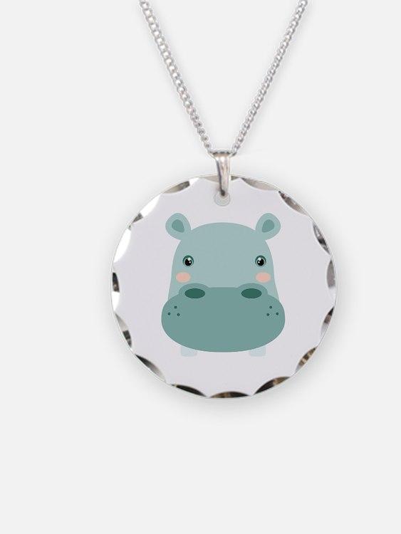 Cute Hippo Necklace
