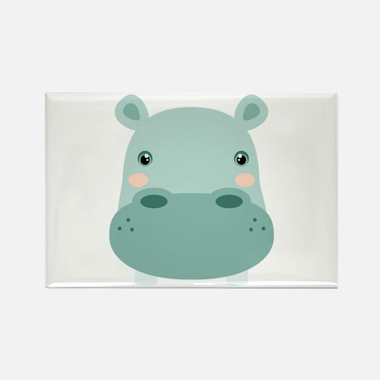 Cute Hippo Magnets