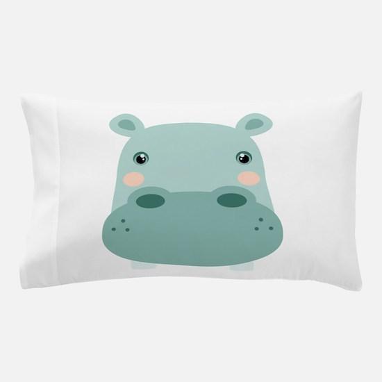 Cute Hippo Pillow Case