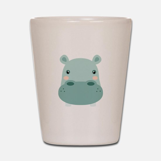 Cute Hippo Shot Glass