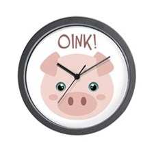 OINK! Wall Clock
