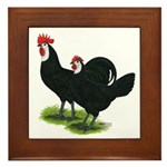Spanish Cock and Hen Framed Tile
