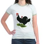 Spanish Cock and Hen Jr. Ringer T-Shirt