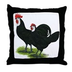 Spanish Cock and Hen Throw Pillow