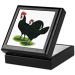 Spanish Cock and Hen Keepsake Box