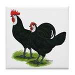 Spanish Cock and Hen Tile Coaster
