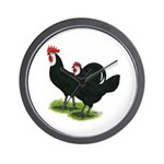 Spanish Cock and Hen Wall Clock