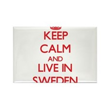 Keep Calm and live in Sweden Magnets