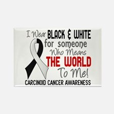 Carcinoid Cancer Means World 2 Rectangle Magnet