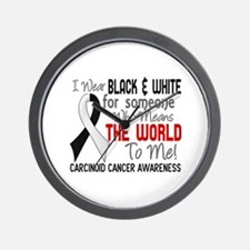 Carcinoid Cancer Means World 2 Wall Clock