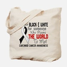 Carcinoid Cancer Means World 2 Tote Bag