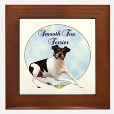 Smooth Fox Portrait Framed Tile