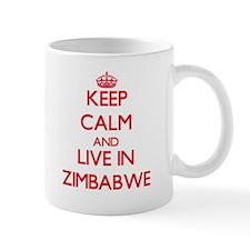 Keep Calm and live in Zimbabwe Mugs