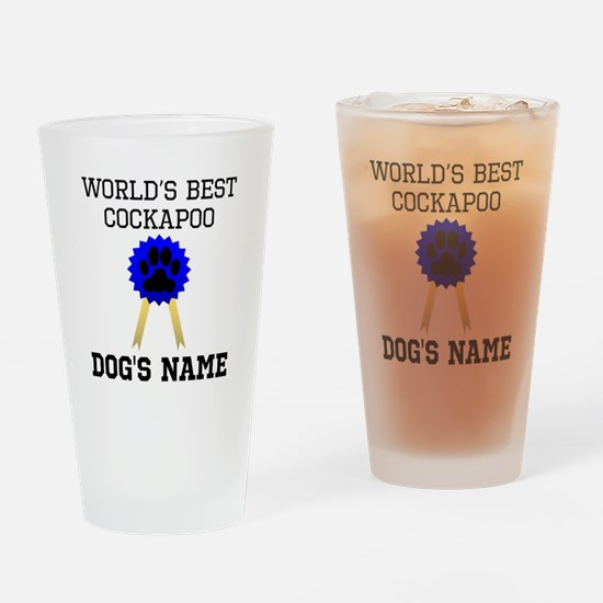 Worlds Best Cockapoo (Custom) Drinking Glass