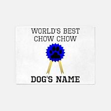 Worlds Best Chow Chow (Custom) 5'x7'Area Rug