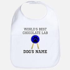 Worlds Best Chocolate Lab (Custom) Bib