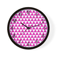 Pink Triangles Wall Clock