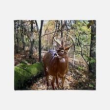 Woodland Buck Deer Throw Blanket