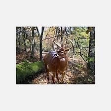 Woodland Buck Deer 5'x7'Area Rug