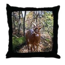 Woodland Buck Deer Throw Pillow