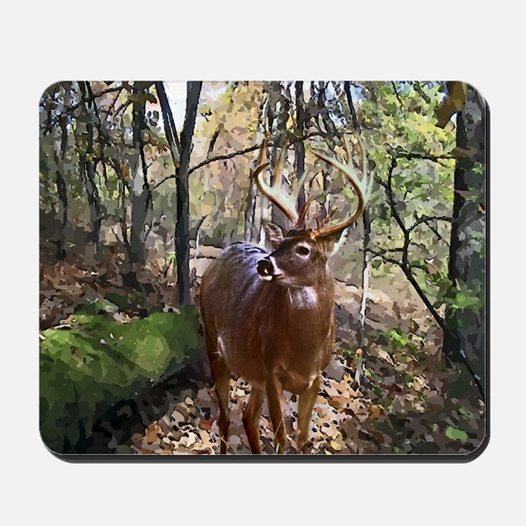 Woodland Buck Deer Mousepad