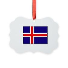 Iceland Flag Ornament