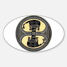 MIMBRES CHIEFS BOWL DESIGN Oval Decal