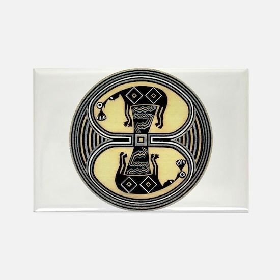 MIMBRES CHIEFS BOWL DESIGN Rectangle Magnet