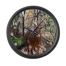Woodland Buck Large Wall Clock