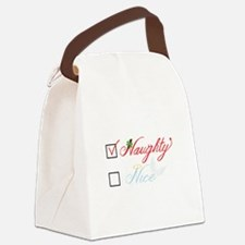 Naughty Nice Canvas Lunch Bag
