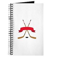 Hockey Blank Banner Journal
