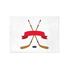 Hockey Blank Banner 5'x7'Area Rug