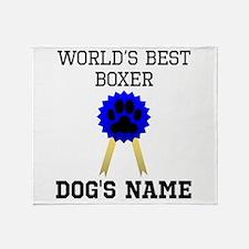 Worlds Best Boxer (Custom) Throw Blanket