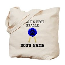 Worlds Best Beagle (Custom) Tote Bag