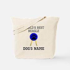 Worlds Best Beagle (Custom) Tote Bag