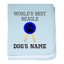Worlds Best Beagle (Custom) baby blanket