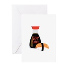 SOY SAUCE Greeting Cards